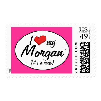 It's a Horse! I Love My Morgan Postage Stamp