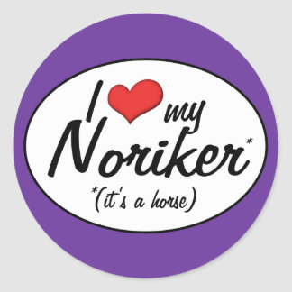 It's a Horse! I Love My Noriker Round Stickers