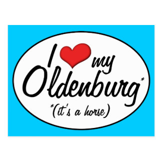 It's a Horse! I Love My Oldenburg Postcard