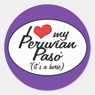 It's a Horse! I Love My Peruvian Paso Classic Round Sticker