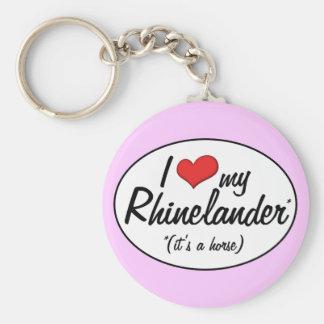 It's a Horse! I Love My Rhinelander Basic Round Button Keychain
