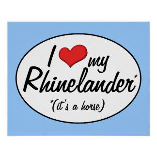 It's a Horse! I Love My Rhinelander Posters