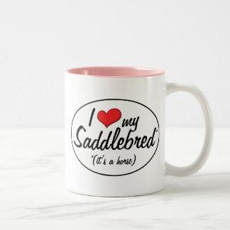 It's a Horse! I Love My Saddlebred Two-Tone Coffee Mug