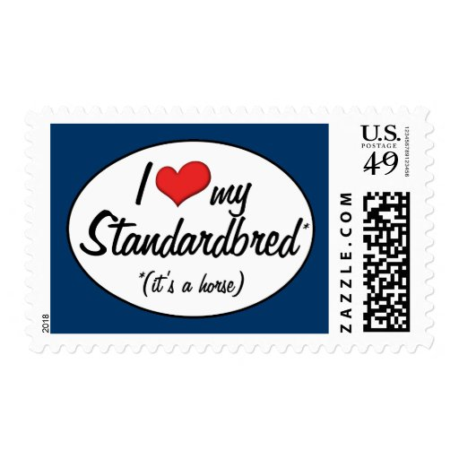 It's a Horse! I Love My Standardbred Postage