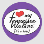 It's a Horse! I Love My Tennessee Walker Classic Round Sticker