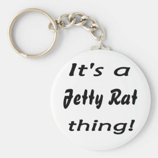 It's a jetty rat thing! basic round button keychain