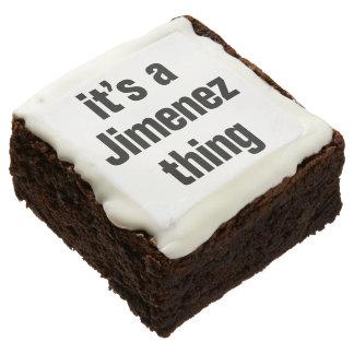 its a jimenez thing square brownie