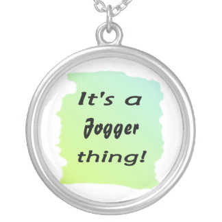It's a jogger thing! round pendant necklace