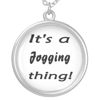 It's a jogging thing! custom necklace