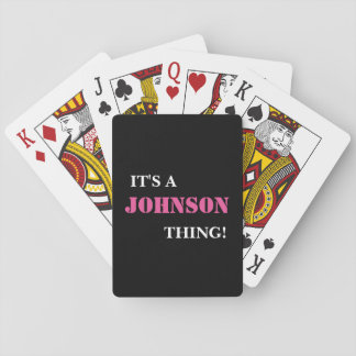 IT'S A JOHNSON THING! PLAYING CARDS