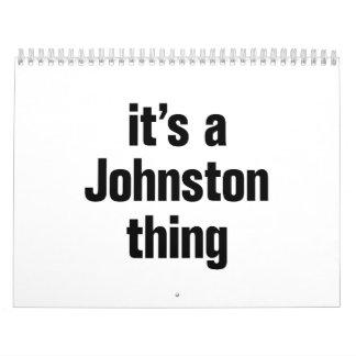 its a johnston thing calendar