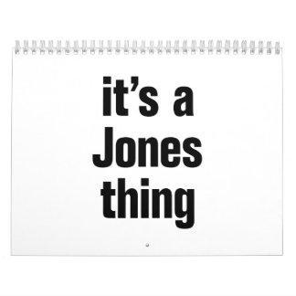 it's a jones thing calendar