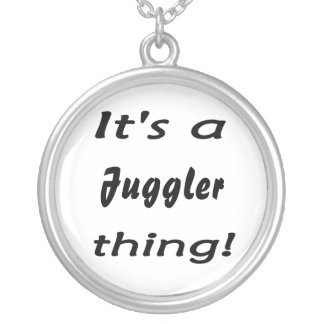 It's a Juggler thing! Round Pendant Necklace