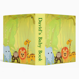 It's A Jungle Baby Shower 3 Ring Binder