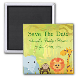 It's A Jungle Baby Shower 2 Inch Square Magnet