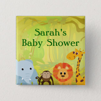 It's A Jungle Baby Shower Pinback Button