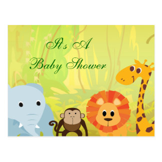 It's A Jungle Baby Shower Postcard
