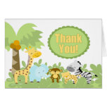 It's A Jungle Thank You Greeting Cards