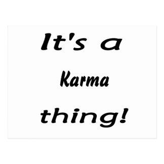 It's a karma thing! postcard