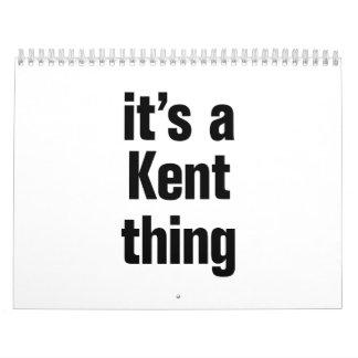 its a kent thing calendar