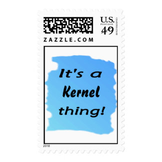 It's a kernel thing! postage stamps