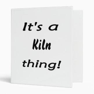 It's a kiln thing! binders