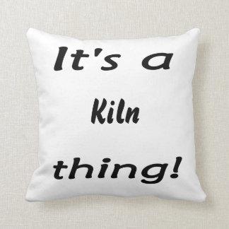 It's a kiln thing! throw pillow