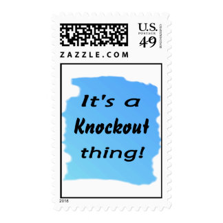It's a knockout thing! postage stamp