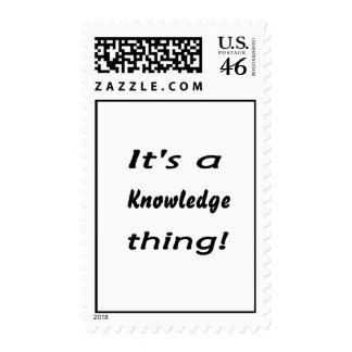 It's a knowledge thing! stamps