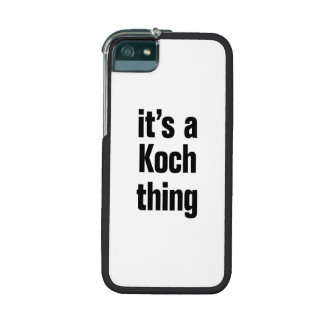 its a koch thing cover for iPhone 5