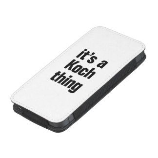 its a koch thing iPhone 5 pouch