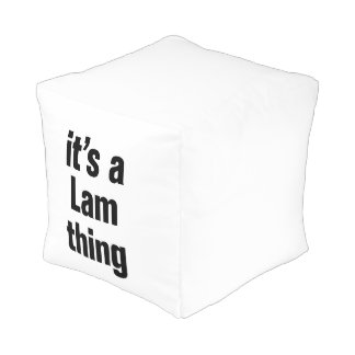 its a lam thing cube pouf
