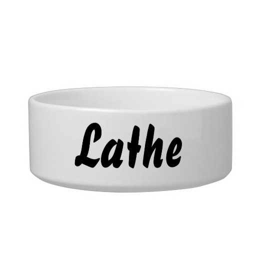 It's a lathe thing! cat water bowl
