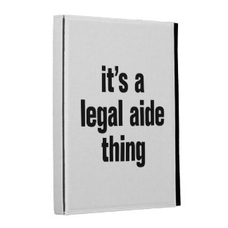its a legal aide thing iPad folio case