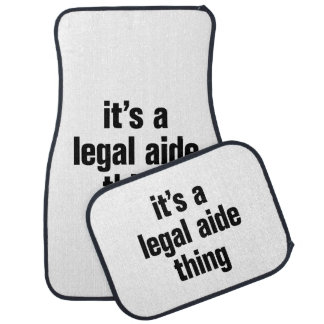its a legal aide thing floor mat