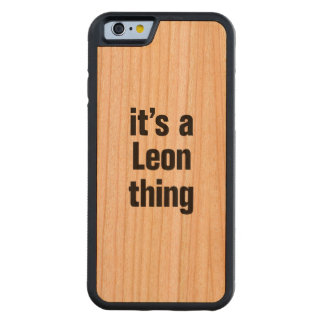 its a leon thing carved® cherry iPhone 6 bumper