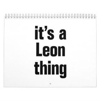 its a leon thing calendar