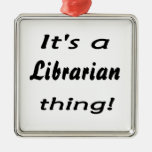 it's a librarian thing! christmas ornament