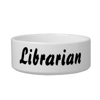it's a librarian thing! cat food bowls