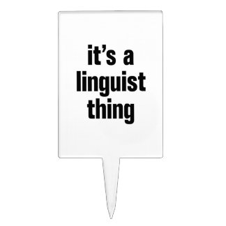 its a linguist thing cake topper
