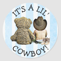 It's a Little Cowboy Baby Shower Stickers