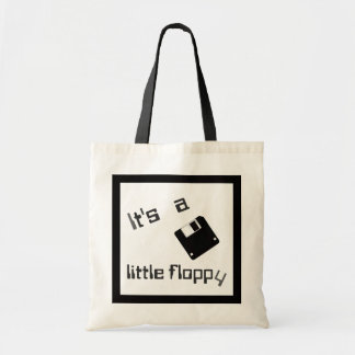 It's a little floppy (disc) tote bag