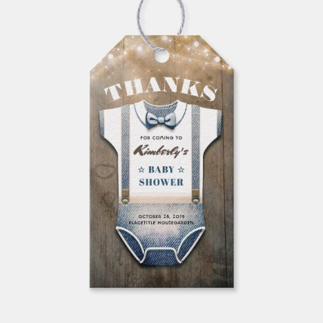 It's A Little Man Baby Shower Thank You Gift Tags
