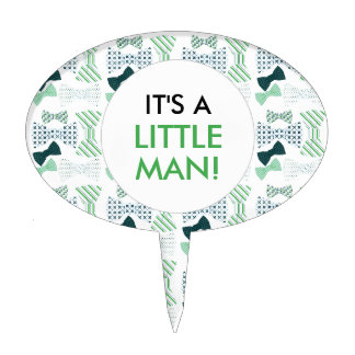 It's a LITTLE MAN BOW TIE baby shower cake topper
