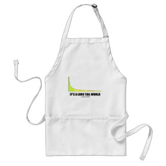 It's A Long Tail World Power Law Graph Humor Aprons