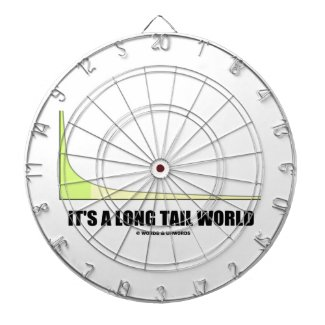 It's A Long Tail World Power Law Graph Humor Dartboards