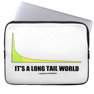 It's A Long Tail World Power Law Graph Humor Laptop Sleeves