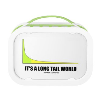 It's A Long Tail World Power Law Graph Humor Lunchboxes