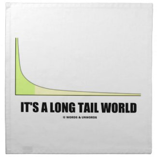 It's A Long Tail World Power Law Graph Humor Napkins