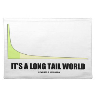 It's A Long Tail World Power Law Graph Humor Placemat